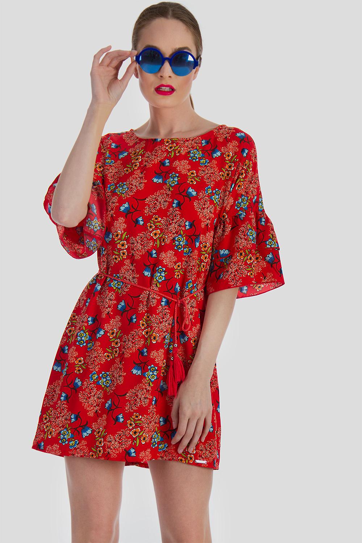 ff7c58f1d673 ΦΛΟΡΑΛ ΜΙΝΙ ΦΟΡΕΜΑ - Μίνι - Φορέματα - E-Shop