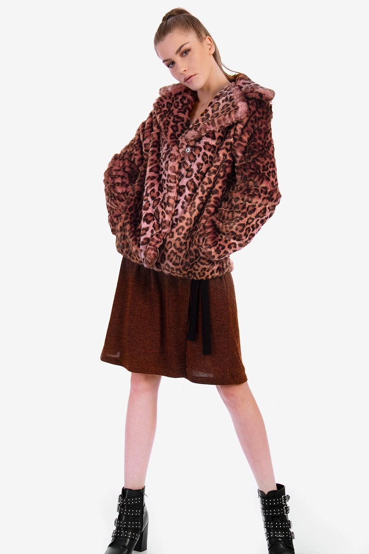 9648b0fa5653 ANIMAL PRINT FAUX FUR COAT - Fur Coats - Jackets /Coats - E-Shop