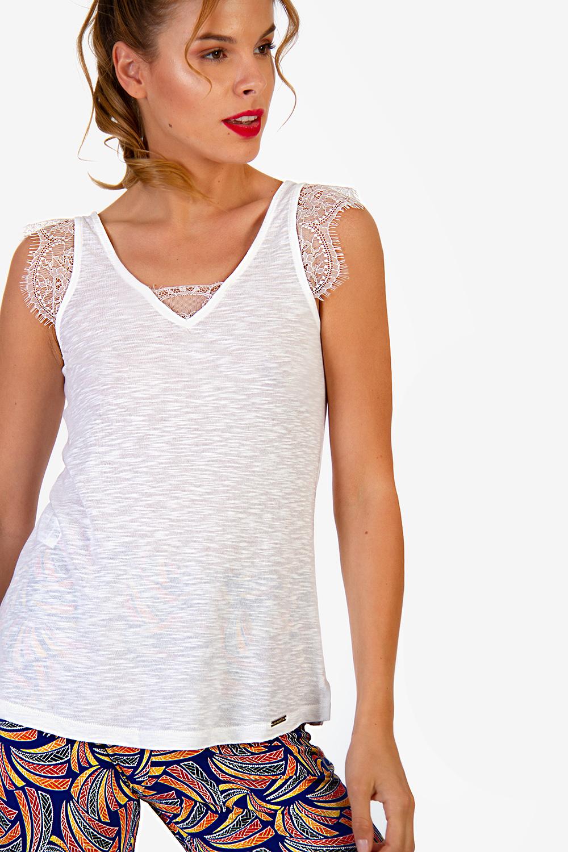 dd785b22a59c ΜΠΛΟΥΖΑ ΜΕ ΔΑΝΤΕΛΑ - Μπλούζες - Καλοκαίρι - Προσφορές - E-Shop ...