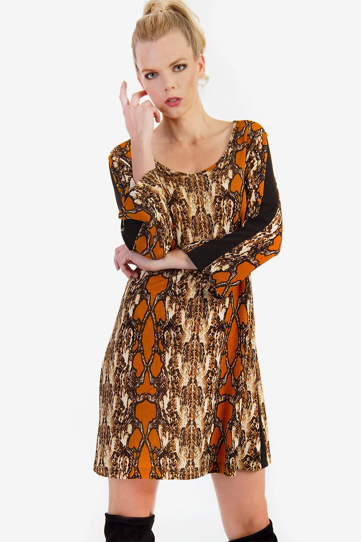 f6a6efdde220 ΜΙΝΙ ΦΟΡΕΜΑ ΜΕ ΤΥΠΩΜΑ - Μίνι - Φορέματα - E-Shop