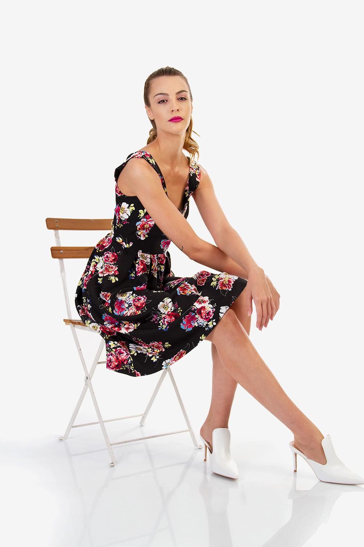 dd3119fae22 ΜΙΝΤΙ ΦΛΟΡΑΛ ΦΟΡΕΜΑ - Μίντι - Φορέματα - E-Shop   Matis Fashion
