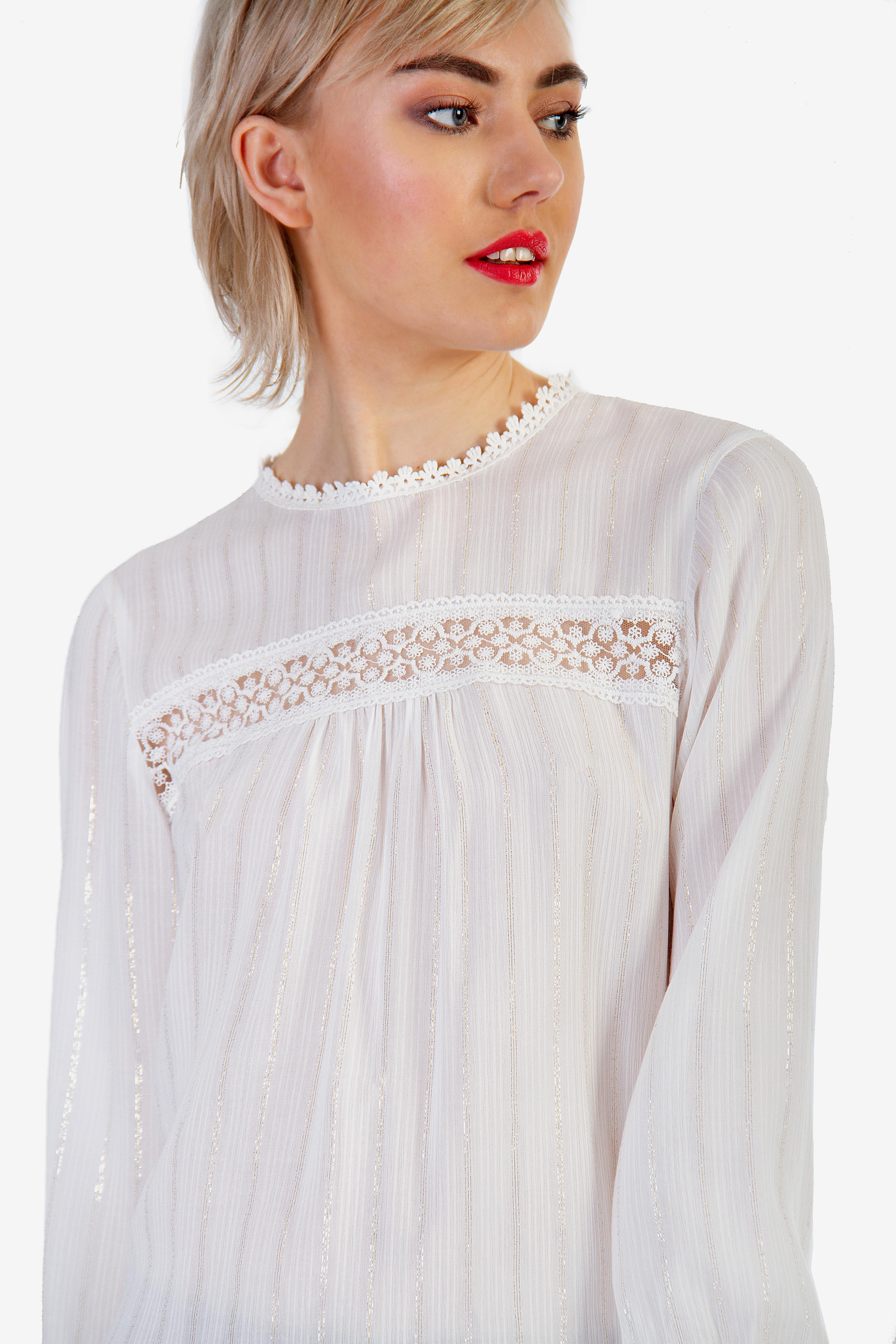 665cf32984a6 ΜΠΛΟΥΖΑ ΜΕ ΔΑΝΤΕΛΑ - Μπλούζες - Μπλούζες - E-Shop