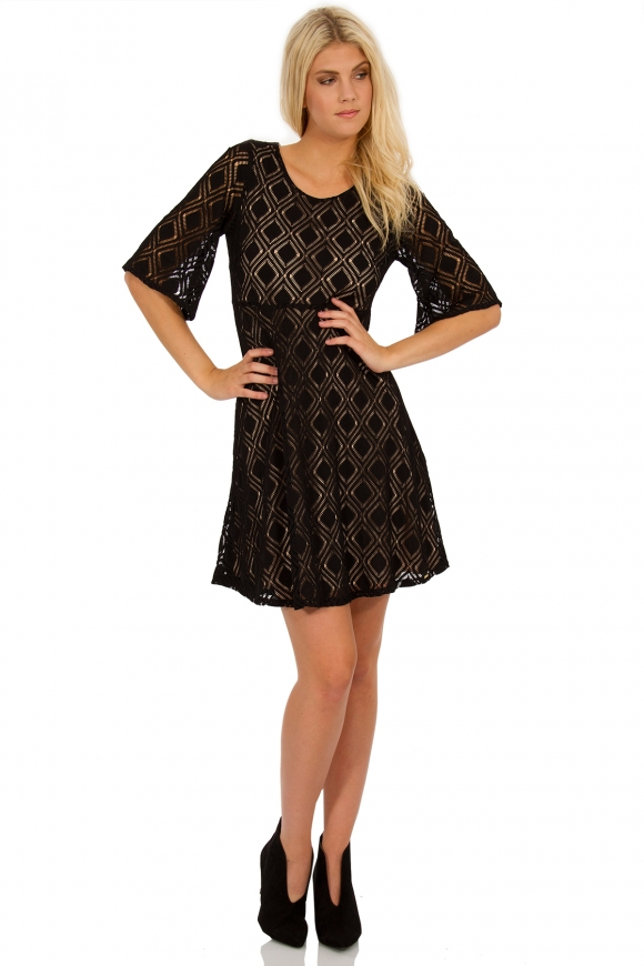 MIDI DRESS MADE FROM LACE